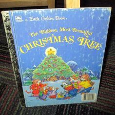 THE BIGGEST, MOST BEAUTIFUL CHRISTMAS TREE, LITTLE GOLDEN BOOK, HARDCOVER, GUC