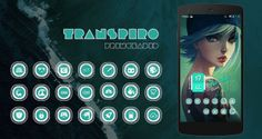 Transpiro Cyan Icon Pack v1.0.0.apk Free Download
