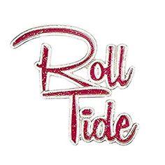 """Alabama Crimson Tide Crimson and White """"Roll Tide"""" Pin"""
