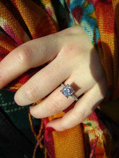 beautiful 2+ carat cushion cut engagement ring :  wedding cushion cut rings Ring3