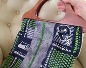 "Seahawk ""center line"" wooden handlbag"