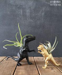 DIY Dinosaur Planter