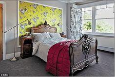 Bedroom designed during an episode of The Great Interior Design Challenge. Re-create it in RoomSkercher:  http://www.roomsketcher.com/interiordesign/  image credits: dailymail.co.uk #bedroom #interiordesign