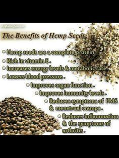 Hemp seeds - and they taste good! =)