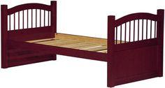 York Mahogany Solid Wood Twin Captain's Bed