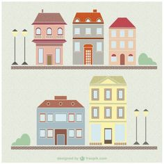 Vintage houses and buildings drawing set Building Illustration, House Illustration, Symbolic Art, House Vector, Toy House, Paper Houses, Book Projects, Scrapbook Paper, Vector Free