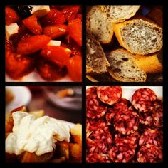Tapas, Tapas, Tapas! Can't get enough of these beautiful bites! #Barcelona #Food #Tapas