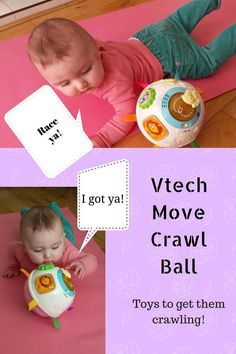 The Vtech move crawl ball is one of the best baby crawling toys. Developmental baby toys are very important and this was definitely an essential one for my 6 month old