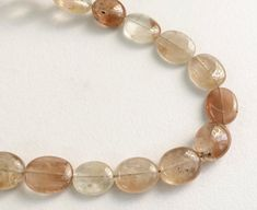 Imperial Topaz Golden Champagne Topaz Beads Oval by gemsforjewels