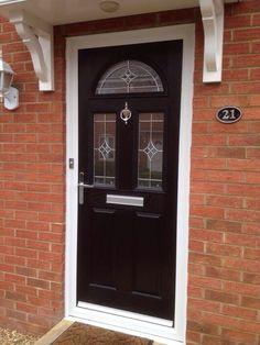 UPVC BLACK COLOUR COMPOSITE FRONT DOOR - MADE TO MEASURE - DIFFERENT DESIGNS!