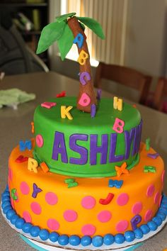 chicka chicka boom boom birthday cakes - Google Search