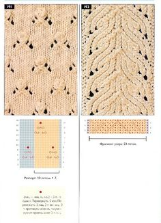 Page of knitting stitch charts. Works fine if you read charts. Lace Knitting Stitches, Lace Knitting Patterns, Knitting Books, Knitting Charts, Lace Patterns, Knitting Designs, Knitting Projects, Baby Knitting, Stitch Patterns