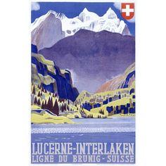 Swiss Alps Lucerne Travel Wood Sign