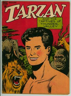Dell Tarzan VF+ Golden Age Jungle Comics , not Signed Vintage Comic Books, Vintage Comics, Tarzan Book, Nostalgia, What Image, Comic Book Covers, Sci Fi Fantasy, Marvel Dc Comics, West Africa