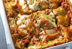 When it comes to comfort food, there is no greater combination than cheese and noodles. Take this dinnertime standby from good to great with these delicious lasagna recipes. Cookbook Recipes, Cooking Recipes, Food Network Recipes, Food Processor Recipes, Healthy Lasagna Recipes, The Kitchen Food Network, A Food, Food And Drink, Tapas