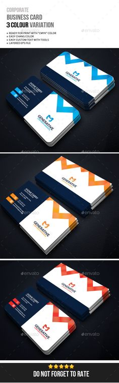 Business Card Business Card Business card. Easy to change colours, text, photos & Fully editable.05 Colour Variations Dark, Unlim