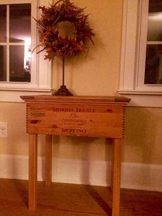 Wine Crate End Table by GVWoodWorking on Etsy