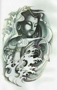50 Brilliant Buddha Tattoos And Ideas With Meaning Buddha Tattoos, Buddha Tattoo Design, Tatuajes Tattoos, Arm Tattoos, Body Art Tattoos, Design Tattoo, Tattoo Sleeve Designs, Gautama Buddha, Tattoo Oriental