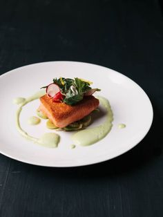 seared salmon with horseradish sauce