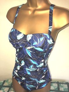 d585241bd5 SEXY LADIES MATALAN NAVY JUNGLE PRINT PADDED TUMMY CONTROL SWIMSUIT SIZE 8  #fashion #clothing #shoes #accessories #womensclothing #swimwear (ebay link)