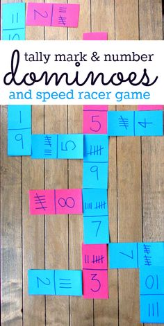 Tally mark math games - frugal too!