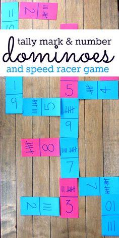 Tally mark math games - frugal too! Thanks Allison McDonald @ No Time For Flash CardsBrilliant! Tally mark math games - frugal too! Thanks Allison McDonald @ No Time For Flash Cards Kindergarten Math Games, Math Classroom, Math Activities, Teaching Math, Fun Math Games, Math Skills, Math Lessons, Tally Marks, Homeschool Math