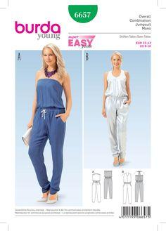 Burda 6657 Misses' Jumpsuit sewing pattern