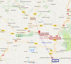 Notre situation centrale, vous permet de découvrir les principaux des sites touristiques en Aveyron.   A moins de 20 minutes : - Rodez et son Musée Soulages (18 min), - Vallée du lot : Sainte-Eulalie, Saint-Côme, Saint Géniez d'Olt (20 min), - Severac-le-Chateau et les Gorges du Tarn (15 min), - Laissac et son marché aux bestiaux  (5 min),  - Bozouls et son canyon (10 min), - Les lacs du Lévezou (20 min).   A moins de 50 minutes : - Millau et son célèbre Viaduc de Millau (35 min),  -