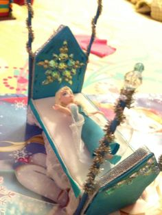 Diy frozen Elsa doll bed