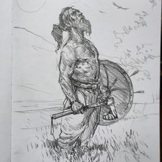 Another Viking warrior sketch