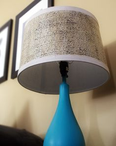 Lampshade makeover with Mod Podge and Graphic Tissue
