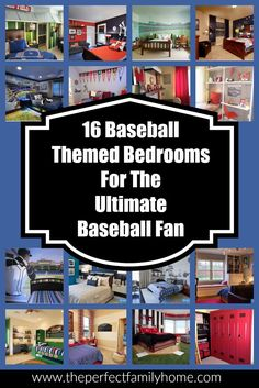 Great ideas for baseball themed bedrooms for boys...                                                                                                                                                                                 More