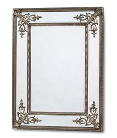 Silver Rectangular French Mirror