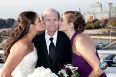 This is #sandwichkiss. Grandpa has been getting them since they were little girls!  Hooray for sandwich kiss!
