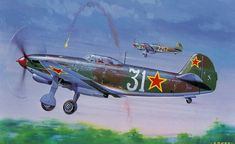 Yak -3: Roy Cross's artwork for AIRFIX kit box