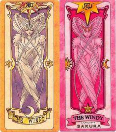 風 = The Windy = El viento es una de las cartas más poderosas. El viento es la primera de las 52 cartas de Clow en aparecer. Es la única Carta que Sakura no pierde, por lo que no tiene que atraparla y la utiliza desde el primer momento. Simboliza un mensaje o algo que necesite decirse, como cuando es utilizada en la adivininacion de la carta espejo. La carta muestra a una hermosa mujer de color amarillo crema rodeada por un velo semitransparente que se origina de su cabello.