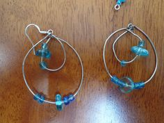 Blue Loopy Earings