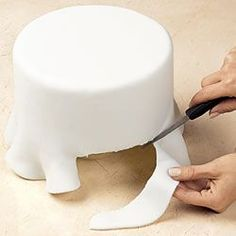Good idea I didn't know: When fondant cracks on your cake... smooth it out with vegetable shortening and moving in a circular motion.
