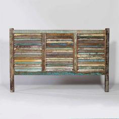 meuble tête de lit en bois recycle