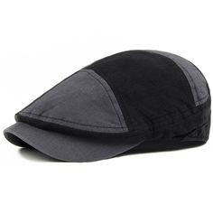 ca9c4e4173e64 Hat for man summer beret Men vintage fashion big plaid cap fashion men wide  brim hat