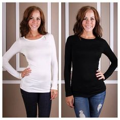 Customer favorite! Our Basic Layering Tee is the softest, most comfortable top you'll ever own!