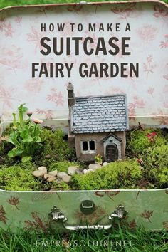 How to make a suitcase fairy garden. How to make a suitcase fairy garden. Fairy Garden Houses, Garden Art, Fairy Gardens, Mini Gardens, Garden Ideas, Miniature Gardens, Fairies Garden, Garden Projects, Diy Projects