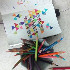 Still working on 7/100: Nirvana #The100DayProject #100daysoflyricsinmyhead #lyrics #lettering #lyricdrawing #drawing #color #geometric #pattern #handtype #goodtype #typography #WIP #nevermind #smellsliketeenspirit #90s #music #grunge