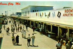 1960's  Image by hbk1955 via Flickr  Look familiar? Ocean City wasn't so different back then. I bet a lot of the games at Playland are still the same, well, maybe the skeeball games are still the same.