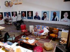 the usual set up - ben quilty Australian Painters, Australian Artists, Artist Studios, Painter Artist, Pin Art, Workspaces, Love People, Room Colors, Contemporary Artists