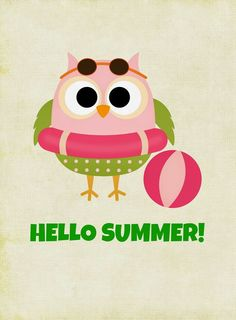 FREE Owl Themed Summer Printables For Instant Decor! you glad it's almost summer printable tag you glad it's summer printable you glad it's summer printable tags printables printables for preschoolers printables free Free Summer, Happy Summer, Summer Fun, Owl Crafts, Paper Crafts, Owl Art, Cute Owl, Journal Cards, Illustrations