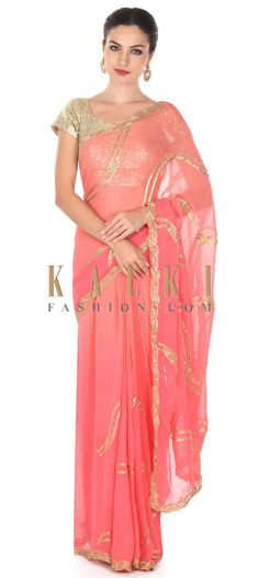 Buy this Pink shaded saree in zari and kardana only on Kalki