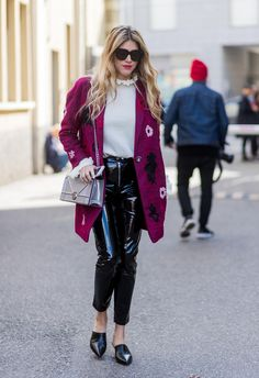 Street style during Milan Fashion Week Fall/Winter 2017/18