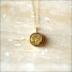 Gold Druzy Pendant