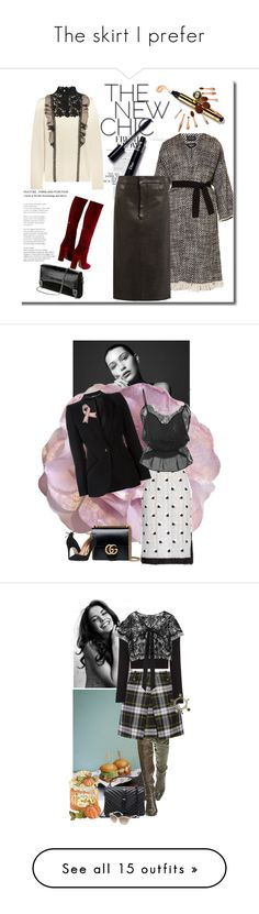 """""""The skirt I prefer"""" by gagenna ❤ liked on Polyvore featuring Cynthia Rowley, Gucci, Marco de Vincenzo, Alexander McQueen, Rupert Sanderson, Fleur du Mal, AlexanderMcQueen, gucci, modaoperandi and marcodevincenzo"""
